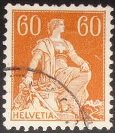 """Schweiz Suisse 1940: """"Helvetia """"Zu+Mi 140y (glattes Kreide-Papier Lisse Crayeux) Mit Unlesbarem Stempel (Zu CHF 80.00) - Suisse"""