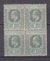 PGL - BRITISH COLONIES MALACCA STRAITS SETTLEMENTS Yv N°79 ** BLOC - Straits Settlements
