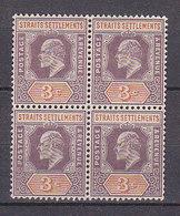PGL - BRITISH COLONIES MALACCA STRAITS SETTLEMENTS Yv N°80 ** BLOC - Straits Settlements