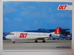 AIRLINE ISSUE / CARTE COMPAGNIE    DLT   FOKKER 100 - 1946-....: Moderne