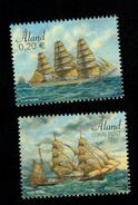 Aland 2017 Sailing Ships (Marienhamn - Mermerus ) 2v Complete Set ** MNH - Aland