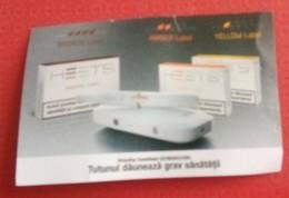 ROMANIA-CIGARETTES  CARD,NOT GOOD SHAPE-0.70 X 0.45 CM - Tabac (objets Liés)
