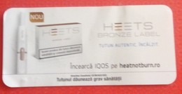 ROMANIA-CIGARETTES  CARD,NOT GOOD SHAPE-0.90 X 0.43 CM - Tobacco (related)