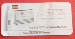 ROMANIA-CIGARETTES  CARD,NOT GOOD SHAPE-0.90 X 0.43 CM - Tabac (objets Liés)