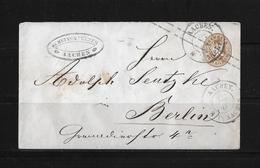 Altdeutschland Preussen GU Brief Aachen Berlin - Prusse