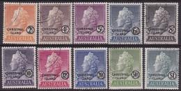 Christmas Island 1958 Sc 1-10 Used - Christmas Island
