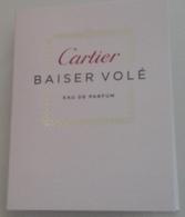 Cartier - Baiser Volé - Eau De Parfum  - 1,5 Ml échantillon Neuf/rempli - Perfume Samples (testers)