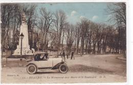 Côte-d'Or - Beaune - Le Monument Aux Morts Et Le Boulevard - Beaune
