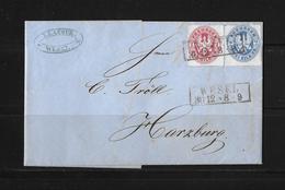Altdeutschland Preussen Brief Wesel Harzburg 1862 - Preussen