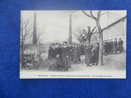 CPA-03-MONTLUCON-Ecole Primaire Supérieure De Jeunes Filles-La Terrasse Du Jardin-animée - Montlucon