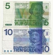 Pays Bas 5+10 Gulden - [2] 1815-… : Royaume Des Pays-Bas
