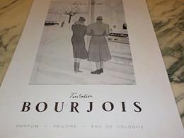 ANCIENNE PUBLICITE PARFUM TENTATION DE  BOURJOIS 1940 - Perfume & Beauty