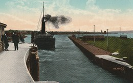 Steamer Passing Out Of The Lock, Sault Ste. Marie, Ontario - Ontario