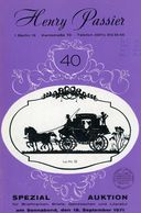 40. Passier  Auktion 1971 - Auktionskataloge