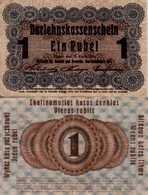 WWI (Germany - Occupation Lithuania) 1 RUBLE (1916) Pick R122c TB (F) - [ 9] Duitse Bezette Gebieden