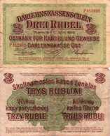 WWI (Germany - Occupation Lithuania) 3 RUBEL (1916) Pick R123b TB - [ 9] Territori Tedeschi Occupati