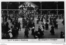 Strasbourg Bas Rhin Bal Danse Orangerie Danseurs 14 Juillet 1919 état Superbe - Strasbourg