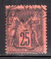 """N° 91a (Sage) Oblitéré """"Convoyeur MARSEILLE à VINTIMILLE"""" SUPERBE: COTE= + 65 € - 1876-1898 Sage (Type II)"""