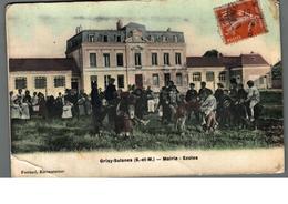 Cpa 77 Grisy-Suisnes (s Et M) Mairie Ecoles Belle Animation Déstockage à Saisir - Autres Communes