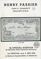 42. Passier  Auktion 1972 - Auktionskataloge
