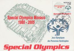 Carte  Maximum  1er  Jour  MONACO  Jeux  Olympiques   Personnes  Handicapées   2005 - Juegos Olímpicos