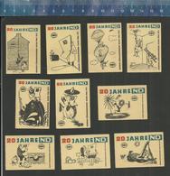 20 JAHRE ND ( NEUES DEUTSCHLAND ) Old Matchbox Labels Former DDR - 1966 - Matchbox Labels