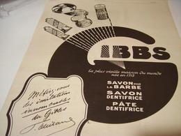 ANCIENNE PUBLICITE NEE EN 1712 GIBBS    1922 - Perfume & Beauty