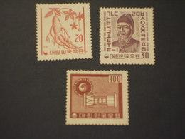 COREA SUD - 1961/2 PITTORICA 3 VALORI(lievi Difetti) - (+/++) - Corea Del Sud