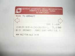 ANCIENNE CARTE DE  BUS  / NAPLES 1999 - Unclassified