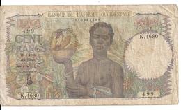 AFRIQUE OCCIDENTALE 100 FRANCS 1948 VG+ P 40 - Billets