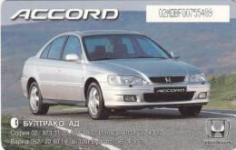 BULGARIA(chip) - Honda Accord, Mobika Telecard 60 Units, Tirage 14000, 06/99, Used - Bulgaria