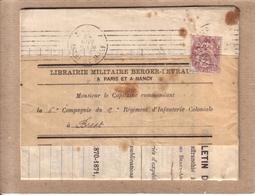 MEURTHE ET MOSELLE , FINISTERE - BULLETIN DE COMMANDE DE NANCY A BREST , TIMBRE TYPE BLANC 2 C PERFORE - 1913 - Francia