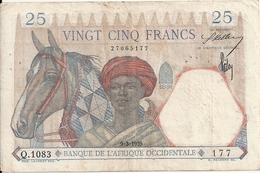 AFRIQUE OCCIDENTALE 25 FRANCS 1939 VF P 22 - Billets