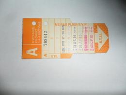 ANCIENNE CARTE DE  BUS  /  8 VOYAGES  / STILL   /  LIEGE - Titres De Transport