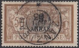 Zanzibar Bureau Français - N° 54 (YT) N° 59 (AM) Oblitéré. - Zanzibar (1894-1904)