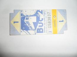 ANCIENNE CARTE DE  BUS  /  TRAM  /CARRIS  LISBOA - Titres De Transport