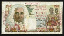GUADELOUPE 100 FRANCS (1947-49) P-35 VF - Banknoten