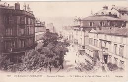 CPA -   172.  CLERMONT FERRAND Boulevard Desaix LE THEATRE ET LE PUY DE DOME - Clermont Ferrand