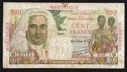 MARTINIQUE CAISSE CENTRALE 100 FRANCS (1947-49) P-31 CIRCULATED - Other - America