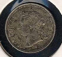 Hongkong, 5 Cents 1882 H, Silber - Hong Kong