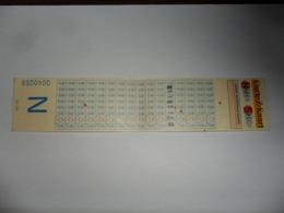 ANCIENNE CARTE   /  CARTE  Z   /  NATIONALE   /  SNCV - Titres De Transport