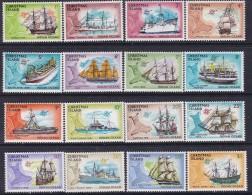 Christmas Island 1972-73 Ships Sc 39-54 Mint Never Hinged - Christmas Island