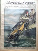 La Domenica Del Corriere 14 Aprile 1929 Miniera Belgio Manton Stazione Radio Usa - Libri, Riviste, Fumetti