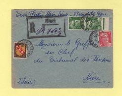 Niort - Recommande Provisoire - 3-3-1947 - Marianne De Gandon - Postmark Collection (Covers)