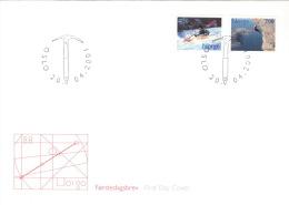 Norwegen 1383/84 FDC Sonderstempel - FDC