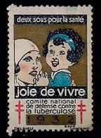 FRANCE - VIGNETTE - COMITÉ NATIONAL DE DÉFENSE CONTRE LA TUBERCULOSE (Deux Sous Pour La Santé) - Vignettes De Fantaisie
