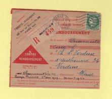 2f50 Ceres Seul Sur Contre Remboursement - Abonnement Revue Temps Present - Paris 10-5-1939 Pour Verdun - Poststempel (Briefe)
