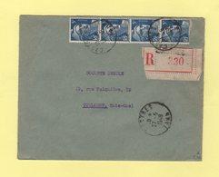 Marianne De Gandon - Recommande - Castres Tarn - 27-5-1948 - Marcophilie (Lettres)