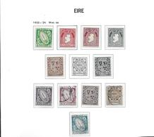 Irlande 1922-24 N° 40/51 Neufs *. MH Sf N° 45 Série Courante Surchargés Cote 86 Euros - 1922-37 Irish Free State