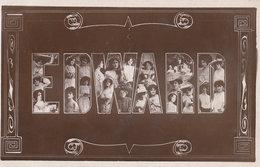 A Name Called Edward Big Letter Actresses RPC Postcard - Souvenir De...